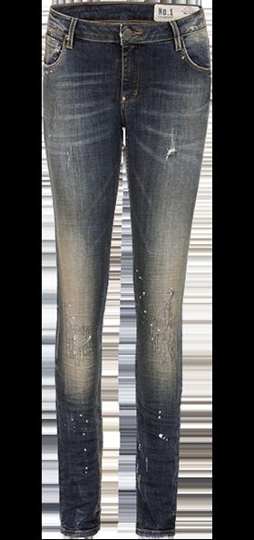 1e2c3f8338b7ef ... Stockerpoint Klederdracht jeans broek lang No1-50Long-dirtywashed blauw
