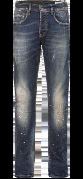 044c1145e6b251 ... Stockerpoint Tiroler korte jeans lang No1-10dirtywash blauw